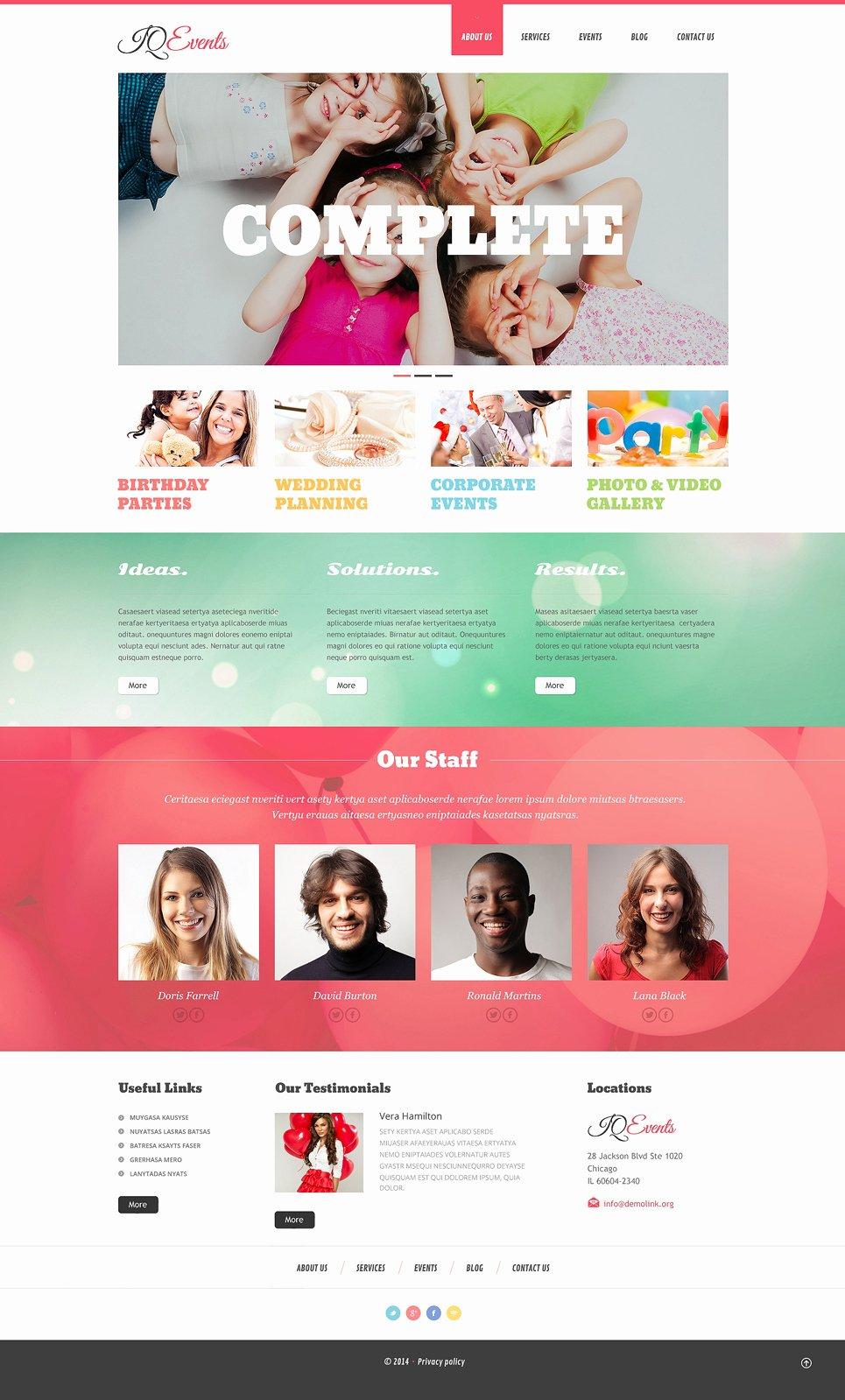 Wedding Planner Website Template Best Of event Planner Responsive Wordpress theme