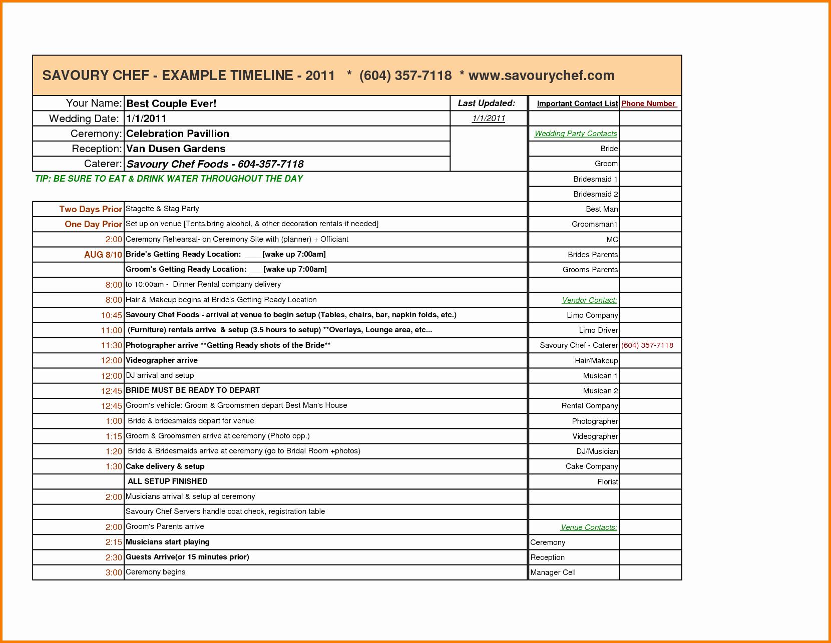 Wedding Planner Website Template Best Of Wedding Planning Timeline Template