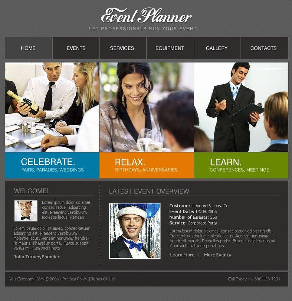 Wedding Planner Website Template Fresh event Planner Website Template Web Design Templates