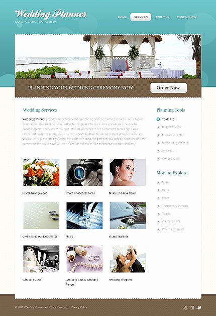 Wedding Planner Website Template Fresh Wedding Planner Website Template