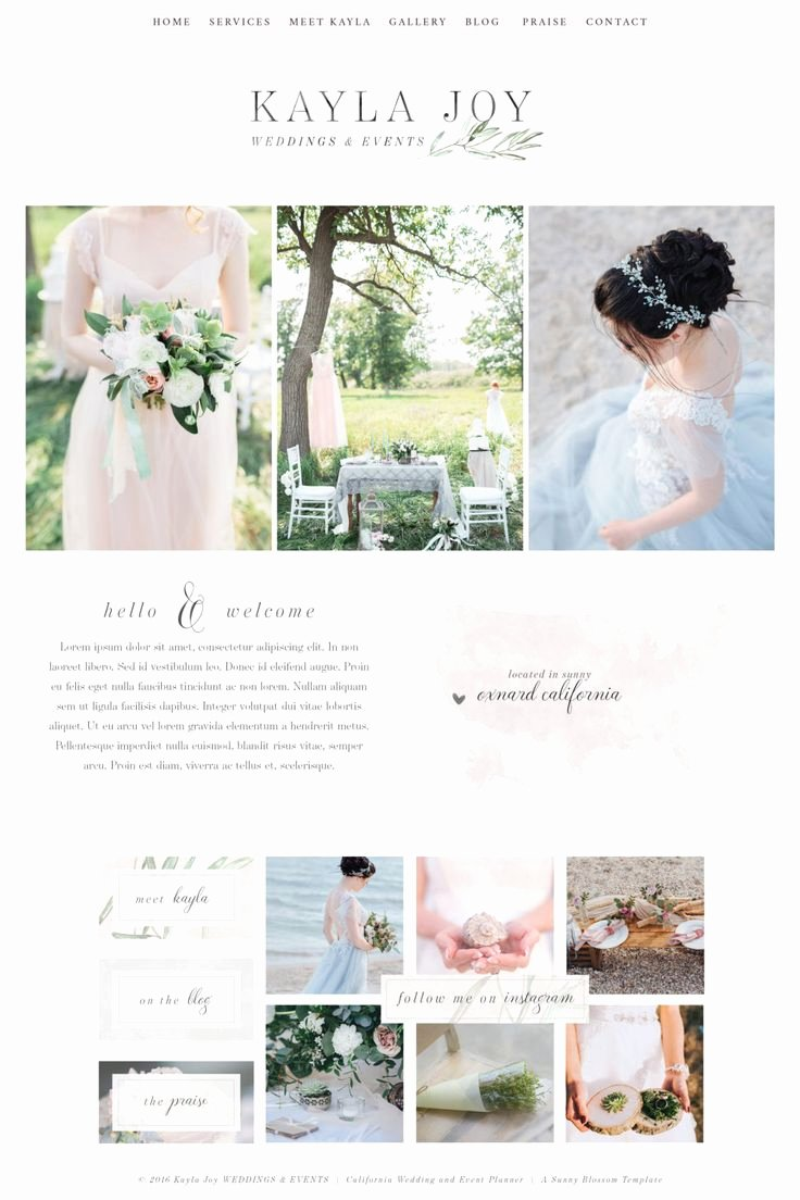 Wedding Planner Website Template Inspirational 17 Best Ideas About Website Template On Pinterest