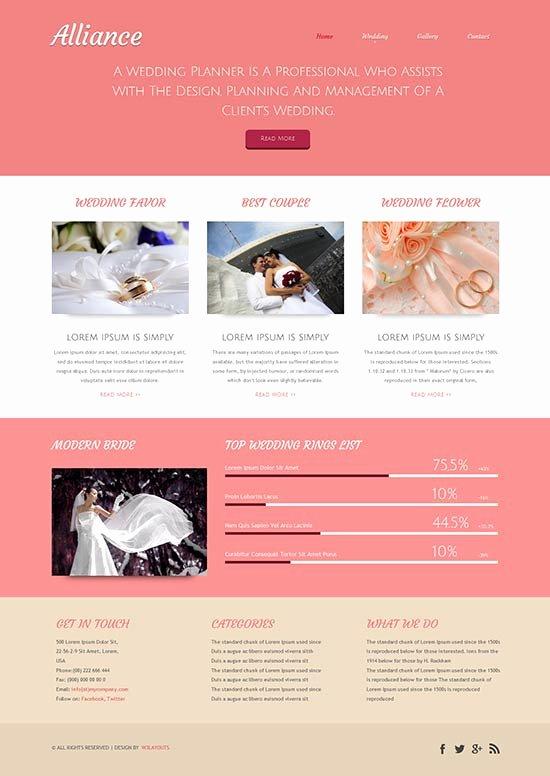 Wedding Planner Website Template Inspirational 70 Best Wedding Website Templates Free & Premium