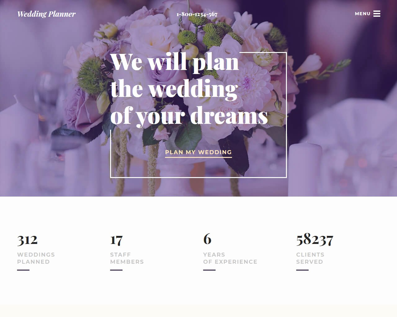Wedding Planner Website Template Lovely 20 Best Wedding Website Templates for Your Special Day 2018