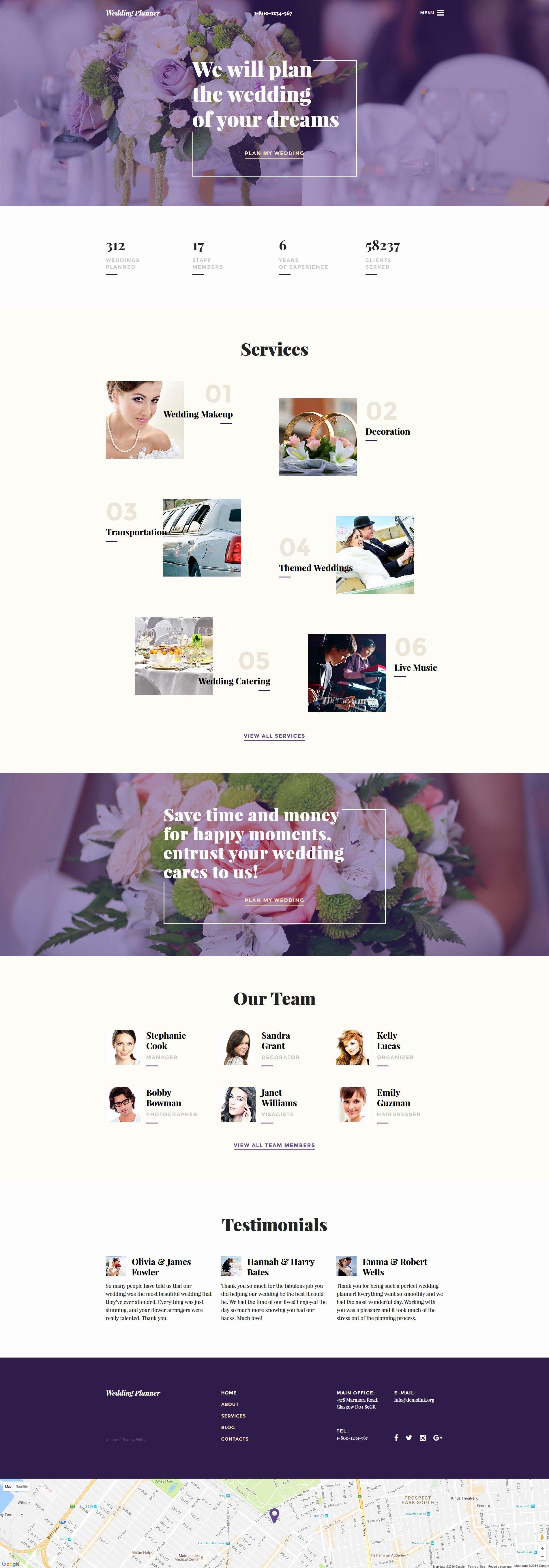 Wedding Planner Website Template Lovely Wedding Planner Web Template