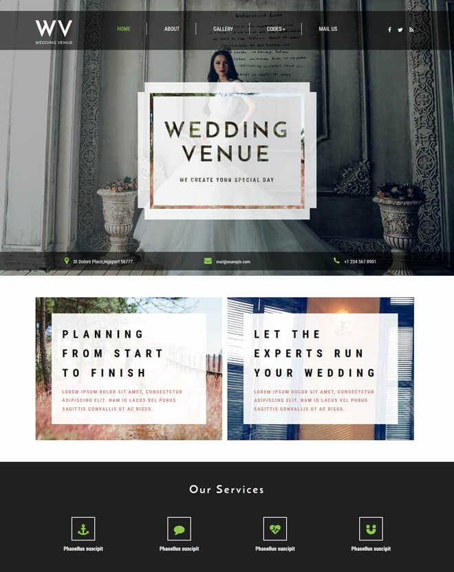 Wedding Planner Website Template Luxury Free event Bootstrap Template List Of Best Quality HTML5