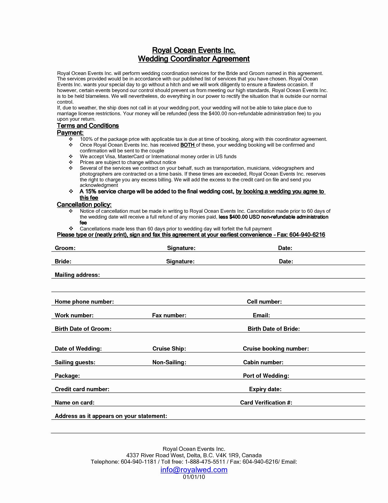 Wedding Planner Website Template Luxury Wedding Planner Contract Sample Templates