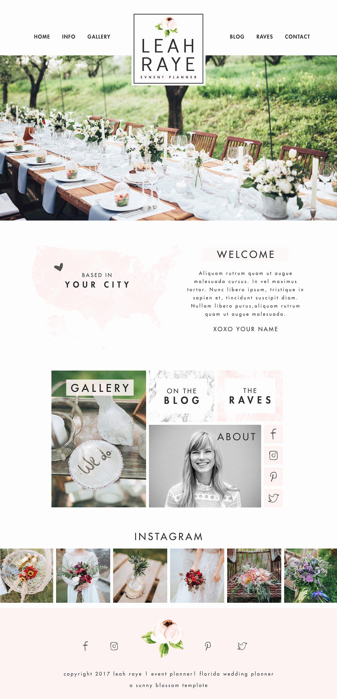 Wedding Planner Website Template Luxury Wix Website Design Website Template Wedding Planner Website