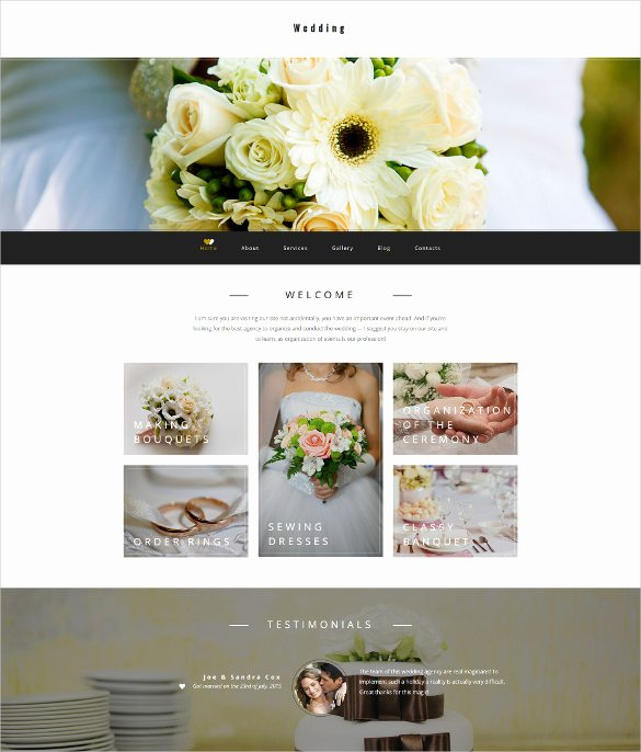 Wedding Planner Website Template New 30 Wedding Website themes & Templates