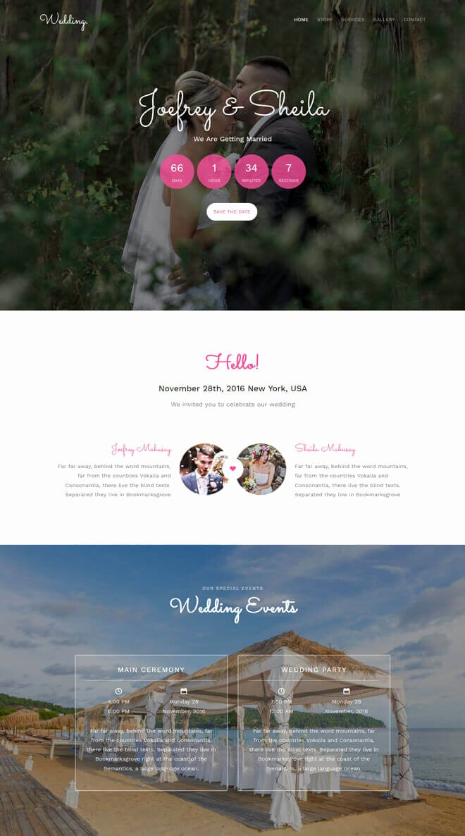 Wedding Planner Website Template New Free event Bootstrap Template List Of Best Quality HTML5