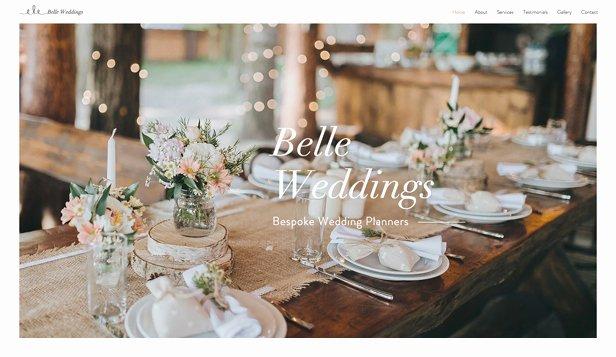 Wedding Planner Website Template Unique Weddings & Celebrations Website Templates events