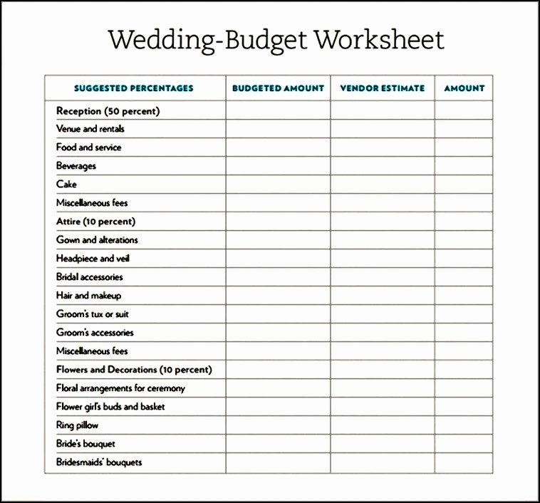 Wedding Planning Budget Template Awesome Simple Wedding Bud Template