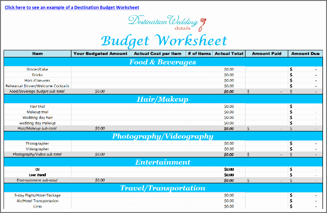 Wedding Planning Budget Template Beautiful Super Simple Destination Wedding Planning Spreadsheets