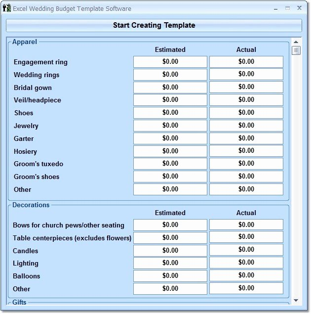 Wedding Planning Budget Template Best Of Excel Wedding Bud Template software Free Download and