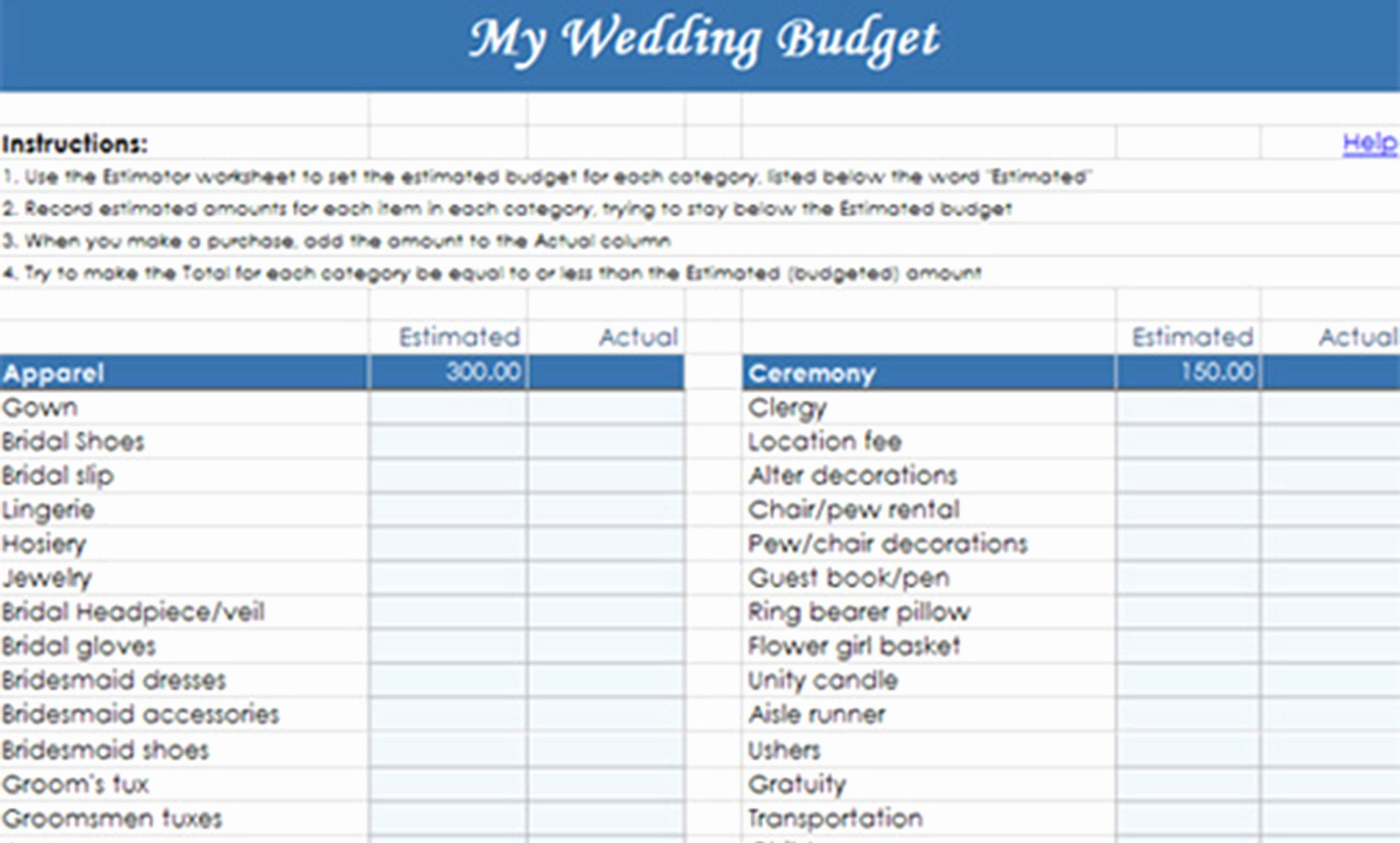 Wedding Planning Budget Template Inspirational 6 Tips to Help Save Money On Your Wedding – Las Vegas