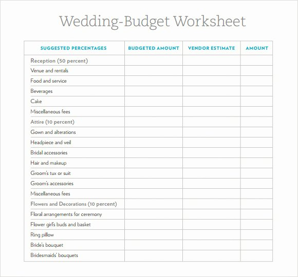 Wedding Planning Budget Template Lovely 6 Wedding Bud Samples