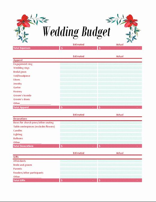 Wedding Planning Budget Template Luxury Wedding Bud Planner