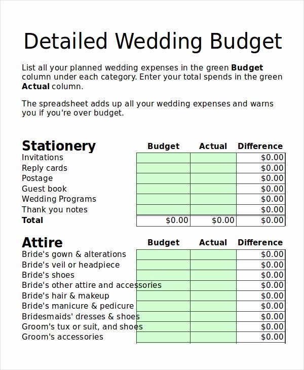 Wedding Planning Budget Template Unique 14 Simple Bud Planner Templates Word Pdf Excel