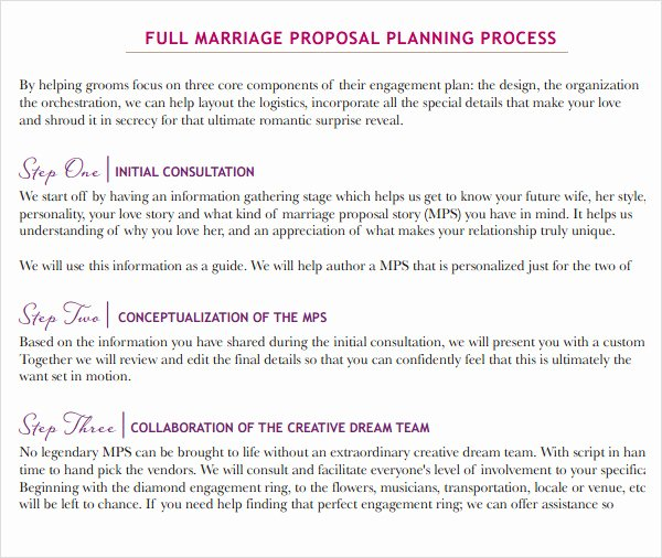 Wedding Planning Template Free Beautiful 9 Sample Wedding Proposal Templates to Download