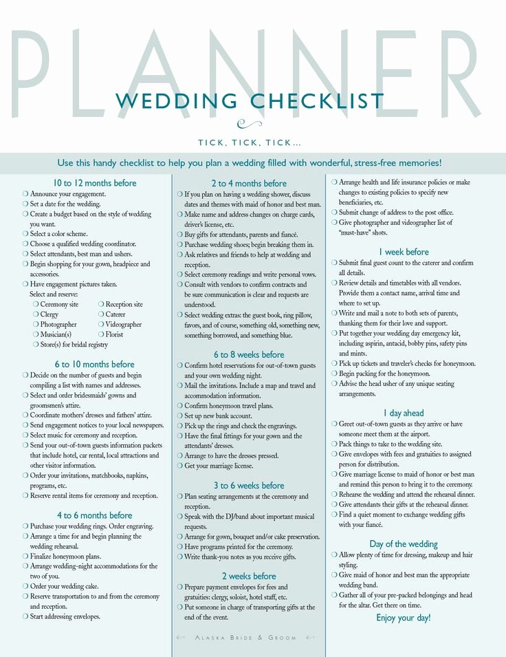Wedding Planning Template Free Beautiful Best 25 Wedding Planning Checklist Ideas On Pinterest