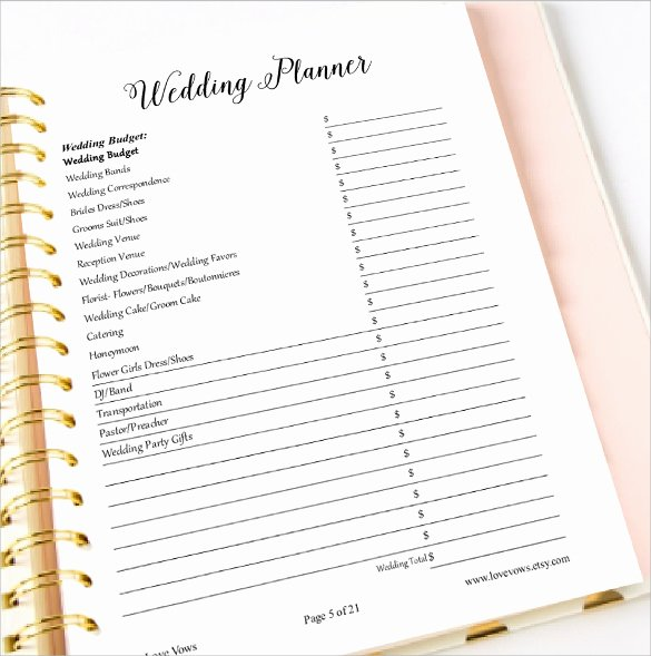 Wedding Planning Template Free Beautiful Sample Wedding Planner Template 21 Documents In Pdf