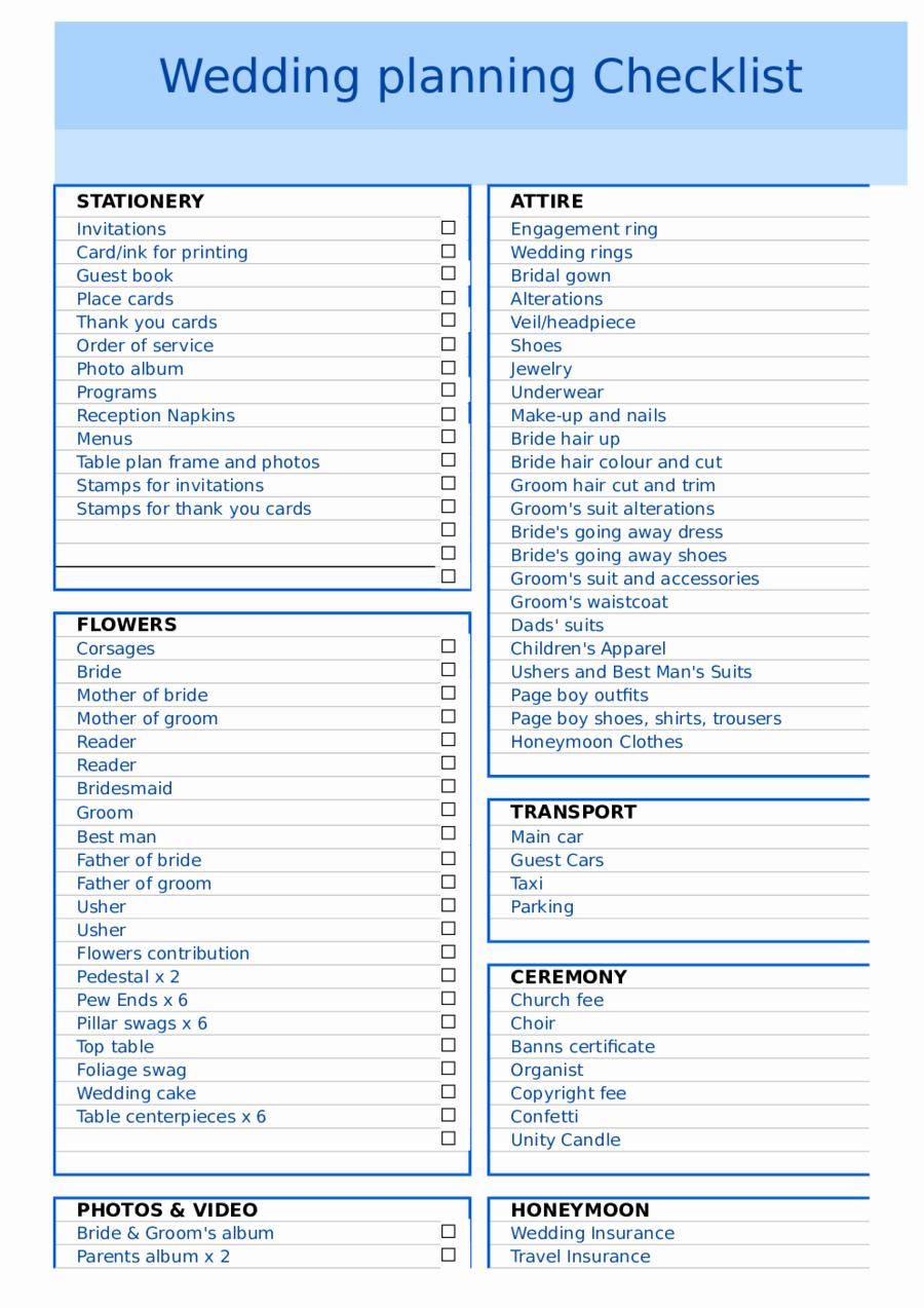 Wedding Planning Template Free Elegant 2019 Wedding Checklist Template Fillable Printable Pdf