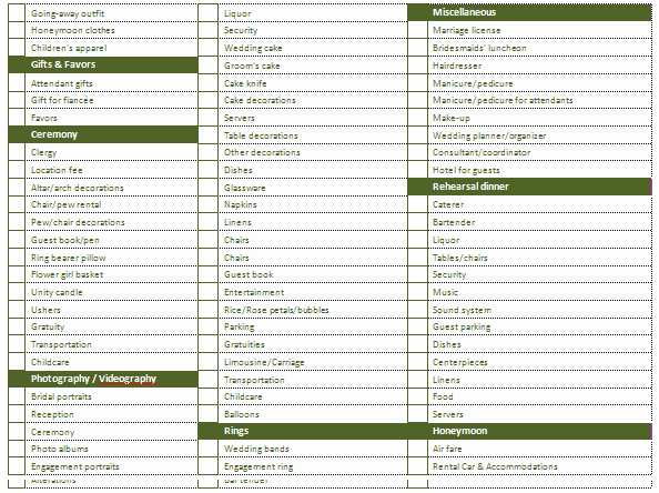 Wedding Planning Template Free Inspirational Ms Word Wedding Planning Checklist