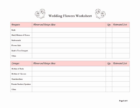 Wedding Planning Template Free Lovely 8 Best Of Free Wedding Templates Printable Planners