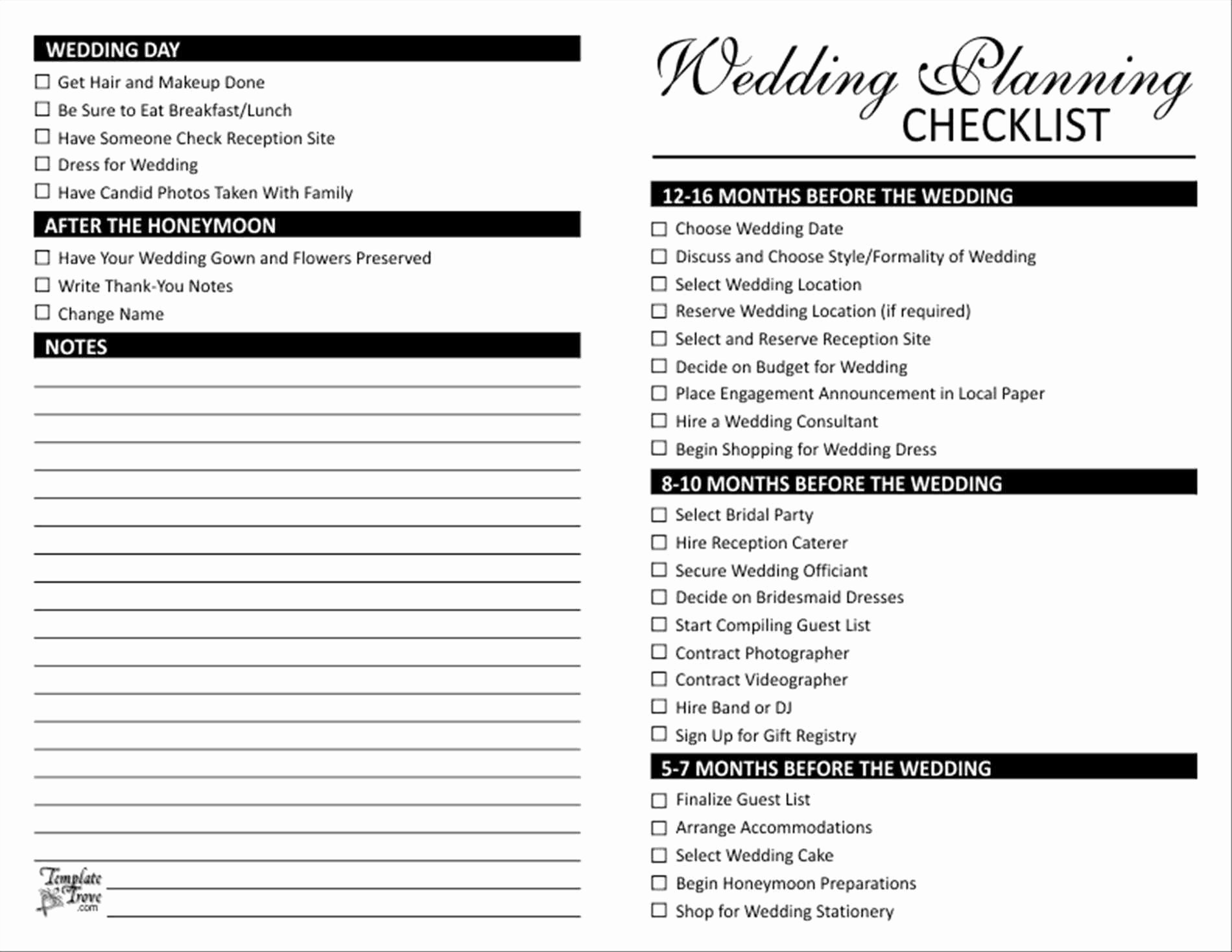 Wedding Planning Template Free Lovely Elegant Free Printable Wedding Checklist