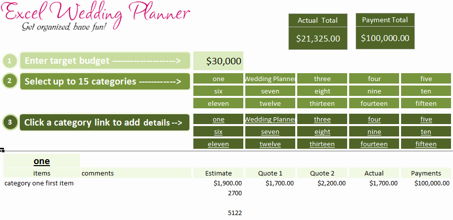 Wedding Planning Template Free Lovely Free Excel Wedding Planner Template Download today