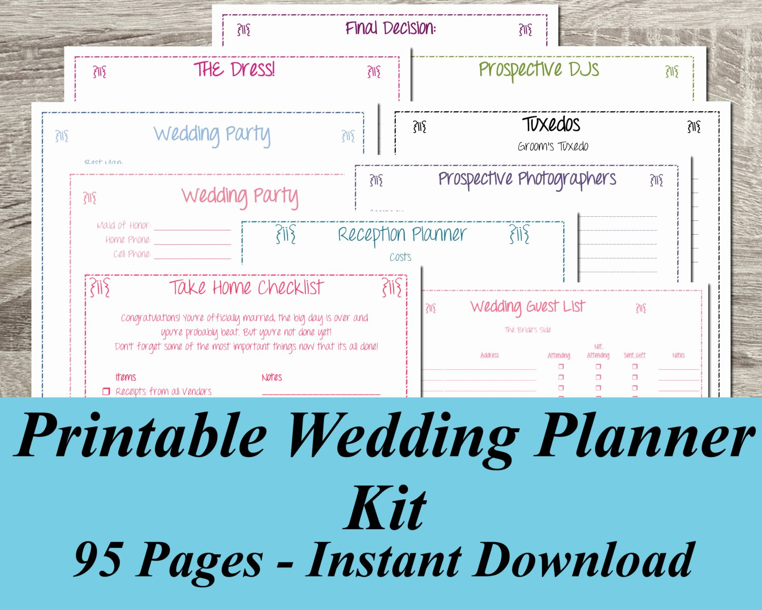 Wedding Planning Template Free Luxury Printable Wedding Planner Instant Download Ultimate Wedding
