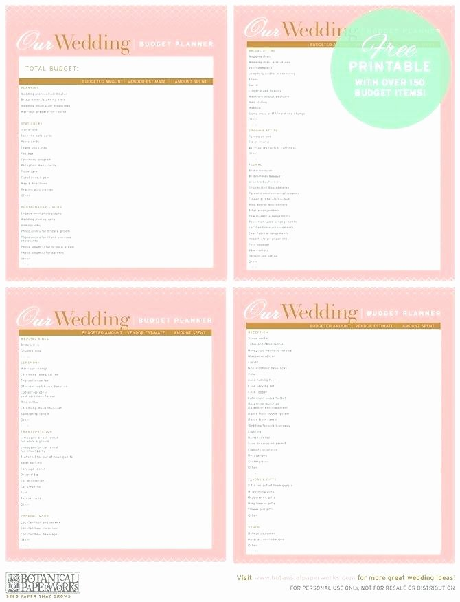 Wedding Planning Template Free Luxury Printable Wedding Planner Sheets – Vancouvereast