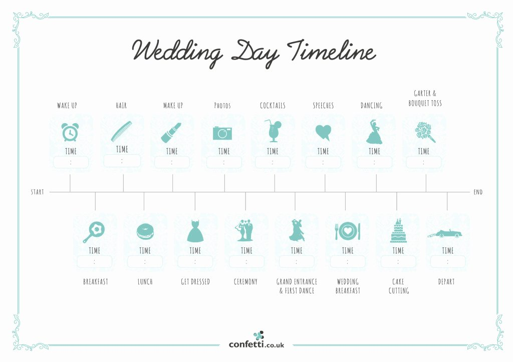 Wedding Planning Template Free Luxury Wedding Day Timeline Free Printable Guide Confetti