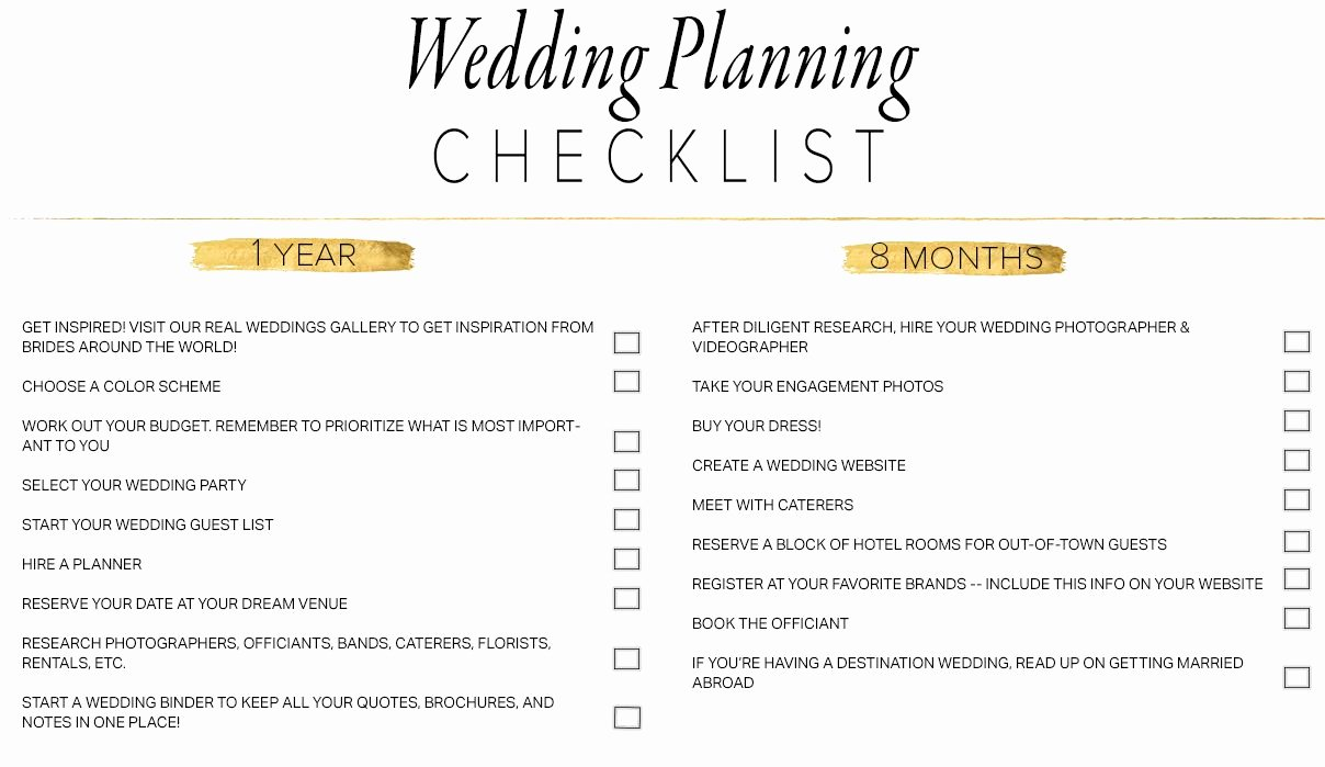 Wedding Planning Template Free Unique 11 Free Printable Wedding Planning Checklists