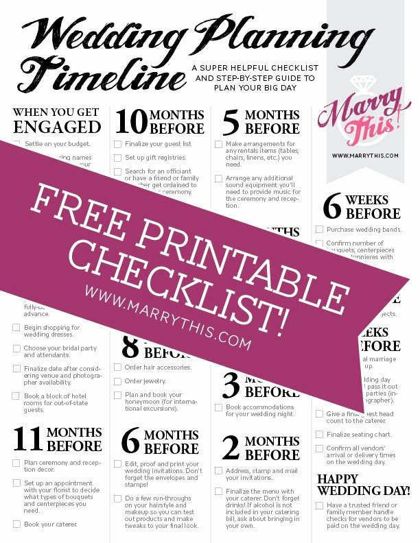 Wedding Planning Template Free Unique Awesome Free Printable Wedding Planning Timeline Download