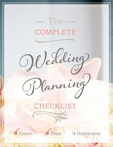 Wedding Planning Template Free Unique Free Wedding Planning Checklist Pdf Print or Download