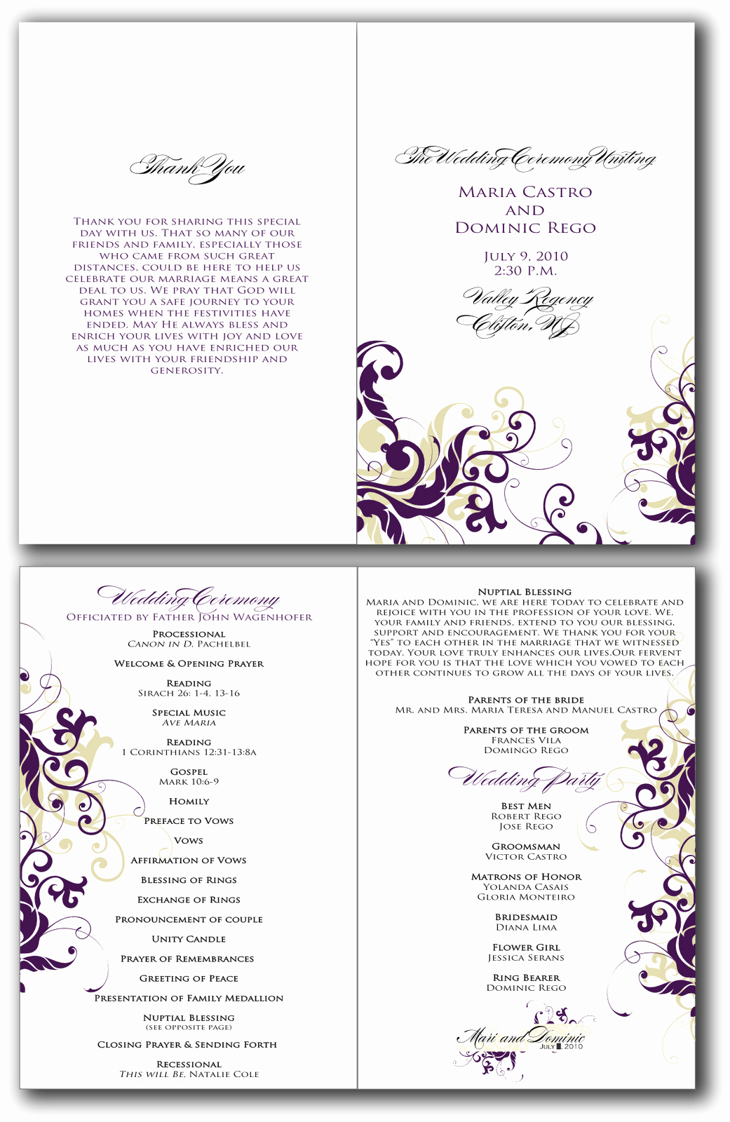 Wedding Program Template Free Printable Awesome 8 Best Of Free Printable Church Program Design