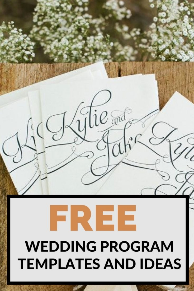 Wedding Program Template Free Printable Awesome Team Wedding Blog Free Wedding Program Templates and Ideas