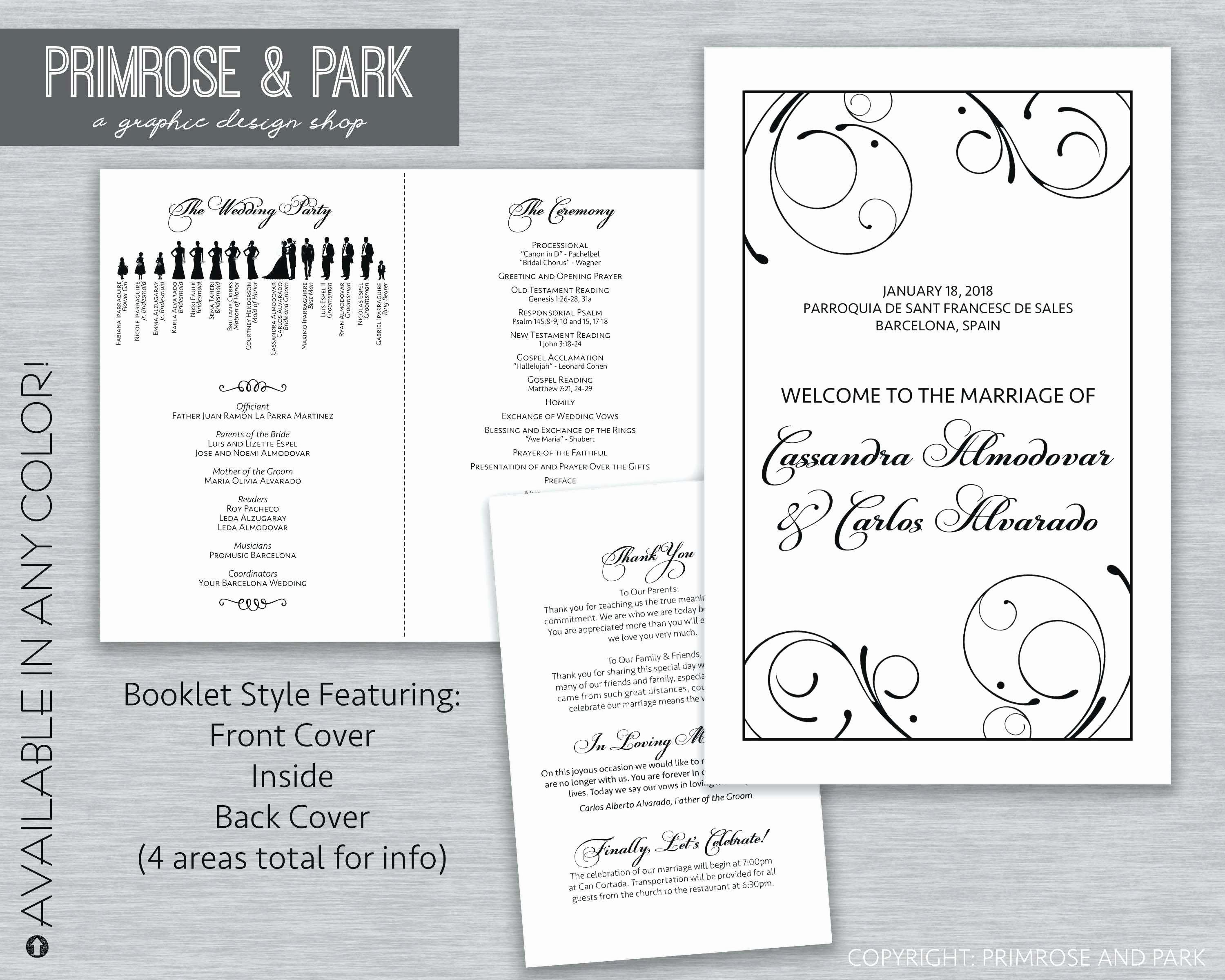 Wedding Program Template Free Printable Beautiful Awesome Free Printable Wedding Program Templates Microsoft