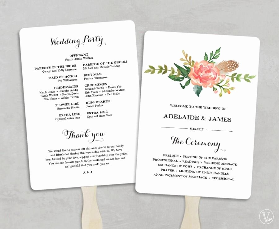 Wedding Program Template Free Printable Beautiful Printable Wedding Program Template Fan Wedding Programs