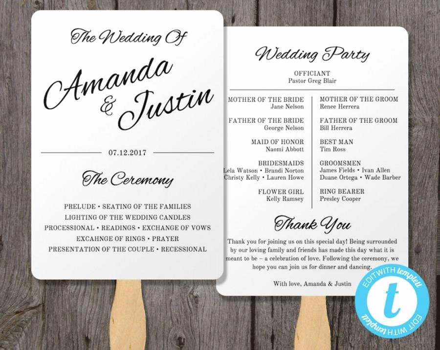 Wedding Program Template Free Printable Beautiful Printable Wedding Programs Templates