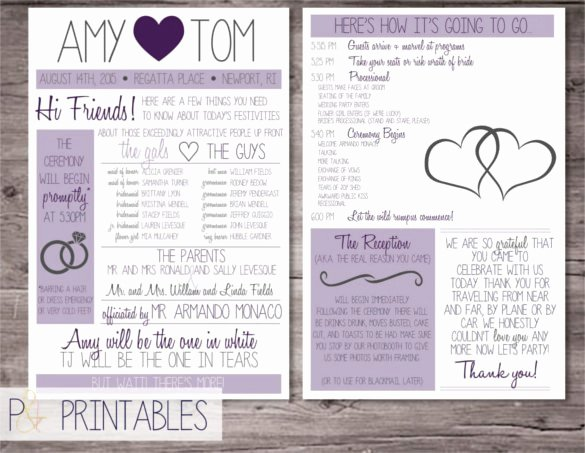 Wedding Program Template Free Printable Best Of 67 Wedding Program Template Free Word Pdf Psd