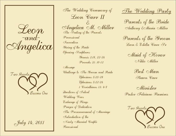 Wedding Program Template Free Printable Best Of 7 Best Of Rustic Wedding Ceremony Program Template
