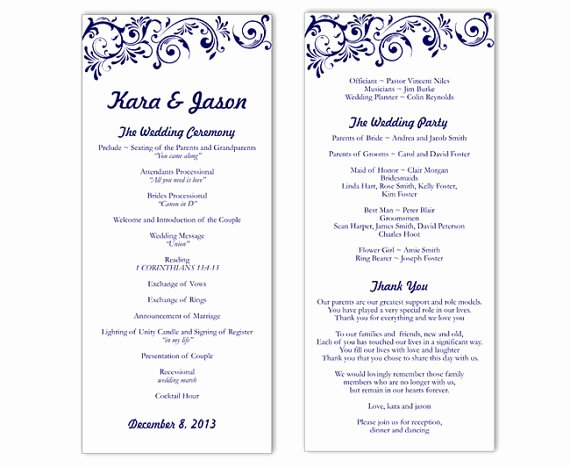 Wedding Program Template Free Printable Best Of Wedding Program Template Word