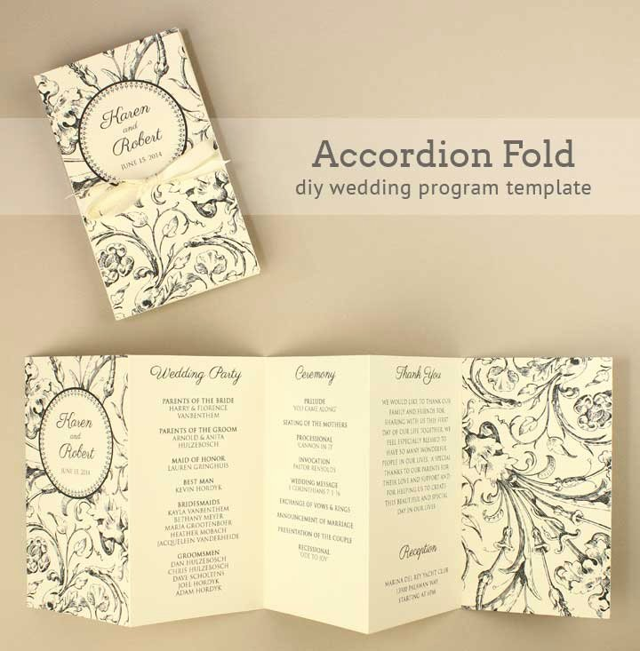 Wedding Program Template Free Printable Elegant Diy Tutorial Free Printable Folded Wedding Program Boho