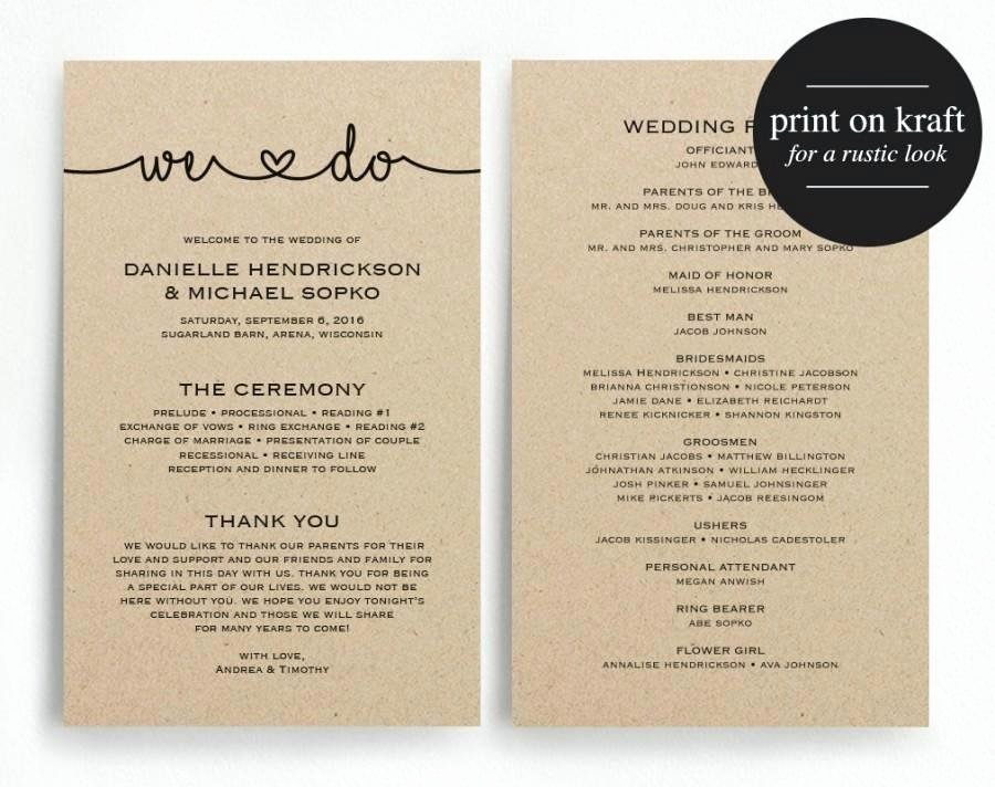 Wedding Program Template Free Printable Inspirational Marriage Programs Template – Giancarlosopofo