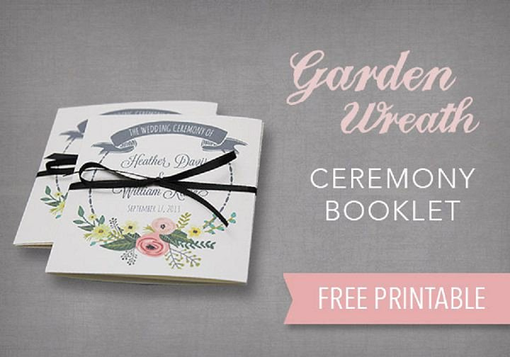 Wedding Program Template Free Printable Lovely Diy Tutorial Free Printable Ceremony Booklet Boho