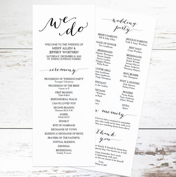 Wedding Program Template Free Printable Lovely Printable Wedding Program Template Rustic Wedding Programs