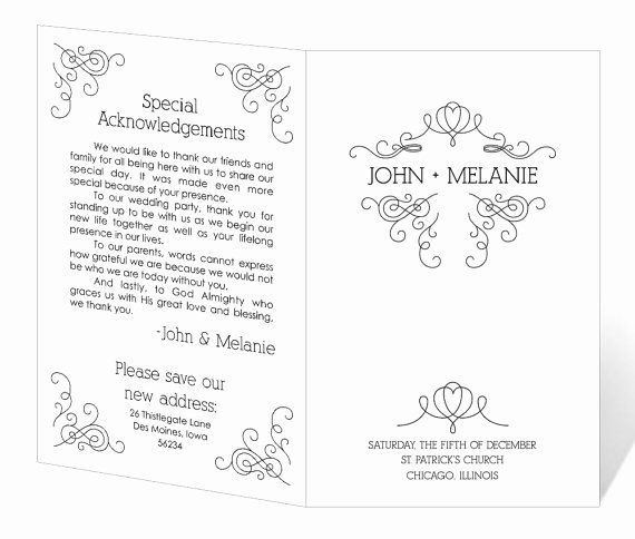 Wedding Program Template Free Printable New Free Printable Wedding Program