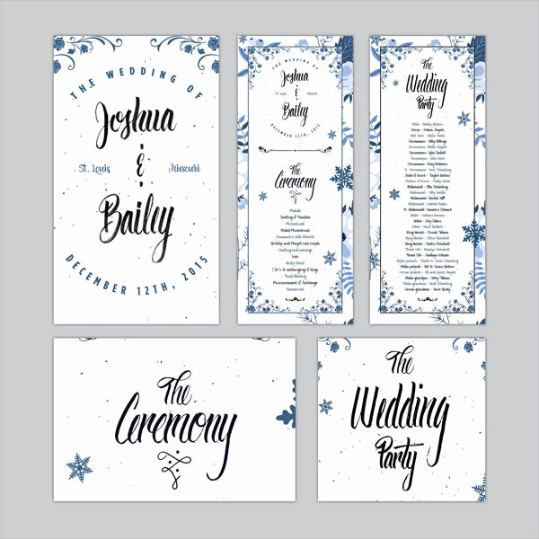 Wedding Program Template Free Printable Unique Free Wedding Program Templates 9 Free Psd Vector Ai