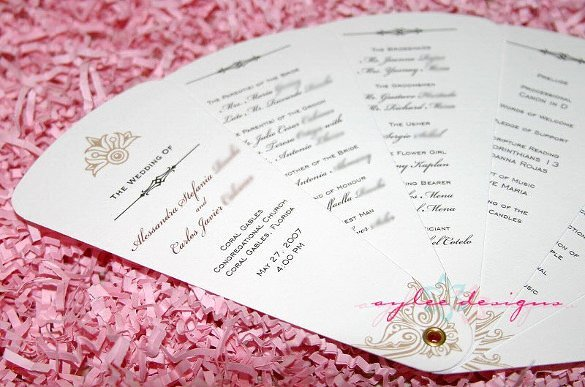 Wedding Program Template Free Word Beautiful 67 Wedding Program Template Free Word Pdf Psd